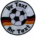football soccer patch with your text 8cm embroidered logo 8cm (647-1)