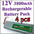 4 x 12V 3800mAh Ni-MH Rechargeable Battery Pack RC
