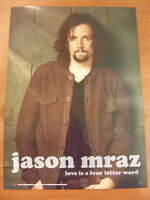 JASON MRAZ - Love Is A Four Letter Word 2Sided [OFFICIAL] POSTER