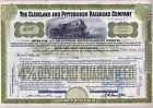 Cleveland & Pittsburgh Railroad Company Stock Certificate Pennsylvania RR Olive