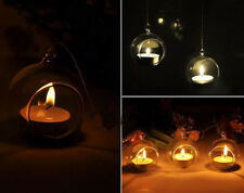 NEW Crystal Glass Hanging Candle Lantern Romantic Wedding Party Candlestick