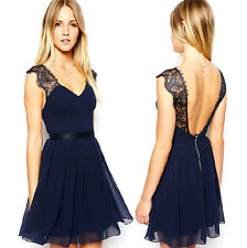 Sexy Womens Sleeveless Backless Casual Evening Cocktail Party Short Mini Dress