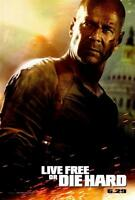 Live Free or Die Hard (2007) 27 x 40 Movie Poster, Bruce Willis, Style A