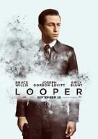 Looper (2012) 27 x 40 Movie Poster Joseph Gordon-Levitt, Bruce Willis, Style C