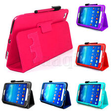 Magnetic 132g Leather Cover Case with Pen For SAMSUNG Galaxy Tab 3 T311 8.0 DA