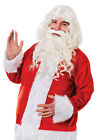 DELUXE FATHER CHRISTMAS SANTA LONG BEARD AND WIG XMAS FANCY DRESS