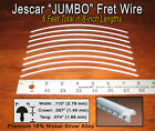 6ft Premium Jescar JUMBO Nickel-Silver Fret Wire/Frets for Bass &More! 10-09-01