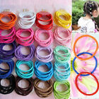New Mixed Colors 100 Baby Girl Kids Tiny Hair Bands Elastic Ties Ponytail Holder