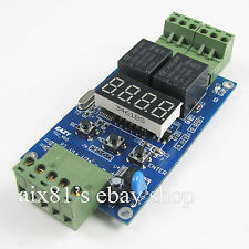 12V/24V Dual Programmable Relay Control Cycle Delay Timer Timing Switch Module