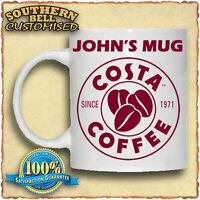 COSTA COFFEE Personalised Name Mug Christmas Birthday Valentines Gift Tea Cup