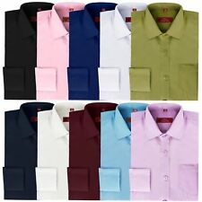 BOYS CLASSIC SHIRT KIDS LONG SLEEVE FORMAL PARTY WEDDING CHRISTENING TOP 1-14 Y