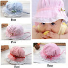 Baby Girls Toddlers Lace Flower Sun Hat Cap Summer Cotton Hat 3-24 Months Hot