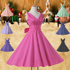 Quinceanera Vintage Polka dot Swing 50's Housewife Pin up Rockabilly Retro Dress