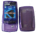 For Sony Ericsson X10 Mini Pro Gel Case Cover Purple New UK