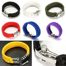 Paracord Armband Bracelet Outdoor Trekking Survival Kit Army Camping Surfen
