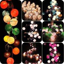 20/35 COTTON BALL FAIRY LED STRING LIGHTS WEDDING PARTY PATIO Christmas DECOR AL