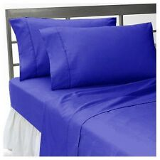Bedding Items 1000 TC 100%Egyptian Cotton Bedding Collection Egyptian Blue Solid