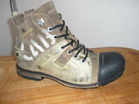 Yellow Cab Schuhe Boots Industrial Stiefel Shoes Beige