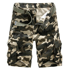 Men Cotton Combat Cargo Shorts Camouflage Camo Military Army Summer Casual Pants