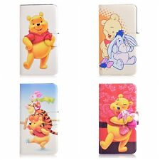 Funny Cartoon Winnie the Pooh Tigger PU Leather Flip Case Cover For Nokia 4