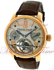Greubel Forsey Double Tourbillon 30° Vision Silver Dial 43.5mm  Rose Gold GF02