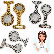 Nurse Doctor Watch ANIMAL PRINT Tunic Brooch FOB Silicon Medical Watches Pocket