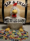 100 Multi Colored LEG BANDS (ONE) size fits (ALL) POULTRY Chicken Duck Turkey