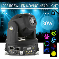 1PCS 30W LED MINI MOVING HEAD SPOT RGBW STAGE LIGHTING GOBOS CLUB DJ PARTY LIGHT