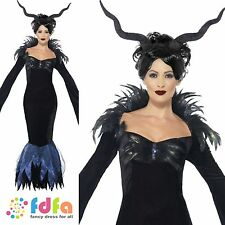 LADY RAVEN MALEFICENT HALLOWEEN DEMON QUEEN - 8-22 - ladies fancy dress costume