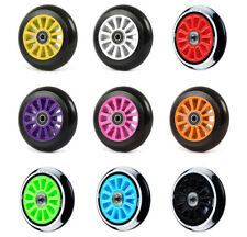 100mm Stunt Scooter Wheels + ABEC9 // Fit TBF Slamm Razor MGP Grit JD Bug