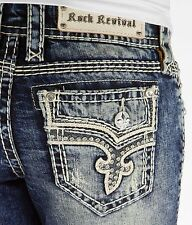 Buckle ROCK REVIVAL Low Rise Janelle Straight Stretch Jean 24,25,26,27,28,29,30