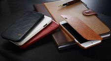 HOT Luxury Genuine PU Leather Flip Case Wallet Cover For Apple iPhone 6 & 6 PLUS