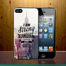 Empire State Building Good Quote Vibes Motivational Hard Phone Case Cover Z411