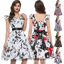 Multi Vintage Rockabilly Swing 50s 60s Retro Pin Up Party Cocktail Evening Dress