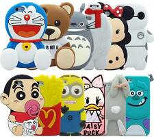 New 3D Cute Cartoon Soft Silicone Back Rubber Cover Case For iPhone 5S 6G/6 Plus