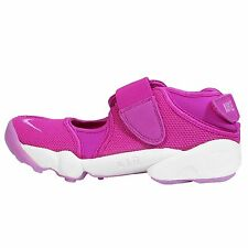 Wmns Nike Air Rift Fuchsia Pink White Velcro Womens Running Shoes 315766-502