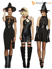 Sz 8-18 Fever Sexy Unusual Black Witch Cat Halloween Fancy Dress Costume Ladies