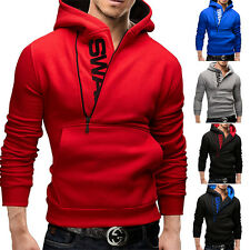 Stylish Men's Slim Warm Hooded Sweatshirt Zipper Coat Jacket Outwear Sweater Men