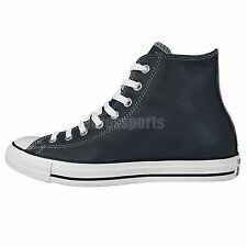 Converse Chuck Taylor All Star Navy Leather White Classic Unisex Shoes 146584C