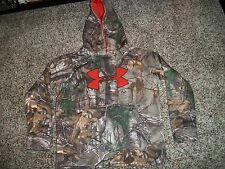 UNDER ARMOUR New NWT Youth Boys Kids Hoodie Jacket Camo Camouflage Realtree Hunt