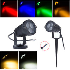 Colorful 9W Bombilla Outdoor LED Flood Path Light Landscape Garden Yard Lámpara