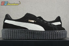 PUMA BY RIHANNA FENTY SUEDE CREEPERS BLACK STAR WHITE 361005 01 NEW SIZE: 8 8.5