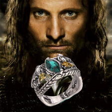 Lord Of The Rings Aragorn's Ring of Barahir Crystal Ring LOTR Size 6-10