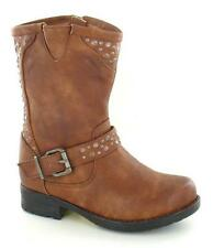 Girls Tan Spot On Mid Calf Boots UK Sizes 10 - 3 H5020