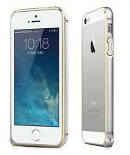 D-MAGINE APPLE IPHONE SILVER METAL HARD BUMPER COVER FOR APPLE IPHONE 4S/5S/6/6+