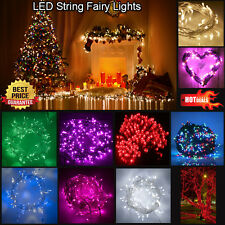 100/200/300/500 LED String Fairy Lights Outdoor/Indoor Xmas Christmas Party UK