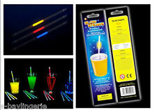 Glow In The Dark Straws Drink Rave Halloween Hen Night Party Stag Do Alcohol