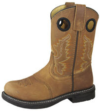 Smoky Mountain Boots Youth Boys Buffalo Brown Distress Leather Cowboy