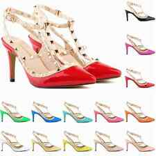 2015 New Pointed Toe Rivets Shoes Woman High Heels Shoes Fashion Sexy Women