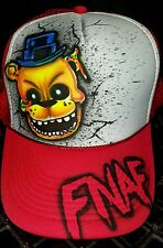 Five Nights at Freddys inspired Airbrush Trucker Snapback Mesh Hat Any Name
